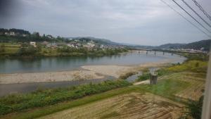 Tag 3 (8) Aussicht auf den Shinano-river beim Phillipinen-Restaurant