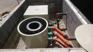Filterkammer mit Verrohrung