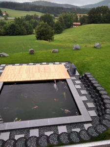 Fertiger Teich mit Abdeckung und Wärmepumpe (Ohne Holzüberdachung)